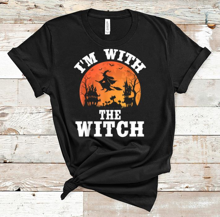 Official I m With The Witch Funny Halloween Party Costume shirt 1 - Official I'm With The Witch Funny Halloween Party Costume shirt