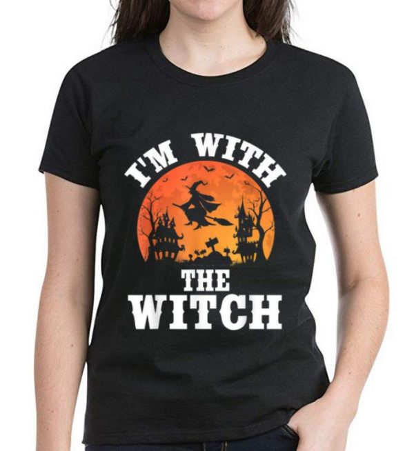 Official I'm With The Witch Funny Halloween Party Costume shirt