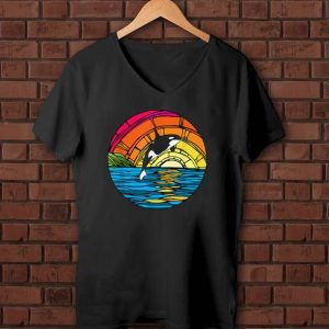 Official Orca Tees Killer Whale Stained Glass shirts