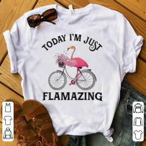 Official Today I'm Just Flamazing Flamingo Bicycle shirt