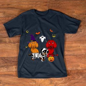 Original Dachshund Doxie Witch Devil Pumpkin Halloween shirt