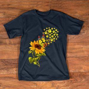 Original Dog Paw Sunflower And Butterfly shirt