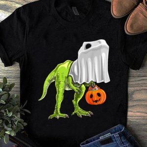Original Halloween T Rex Dinosaur Ghost Trick Or Treat Kids shirt