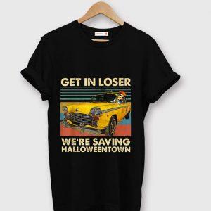 Original Skull Car Get in loser we're saving Halloweentown vintage shirt