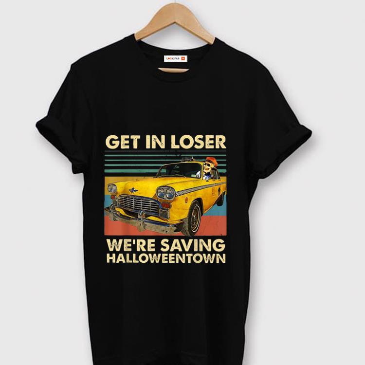 Original Skull Car Get in loser we re saving Halloweentown vintage shirt 1 - Original Skull Car Get in loser we're saving Halloweentown vintage shirt