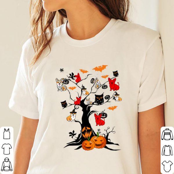 Original Tree Pumpkin Corgi Dog On Halloween Tree Dog Lover shirt