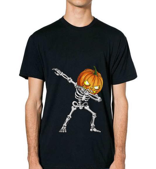 Premium Dabbing Skeleton Pumpkin Halloween shirt