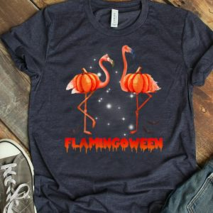 Premium Halloween Custome Flamingo Flamingween Halloween Pumpkin shirt
