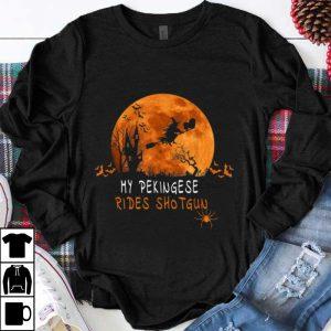 Premium Pekingese Rides Shotgun Halloween Costume shirt