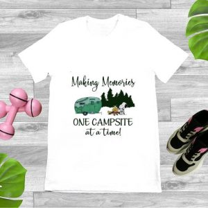 Premium Snoopy and Woodstock Making Memories One Campsite At A Time shirts