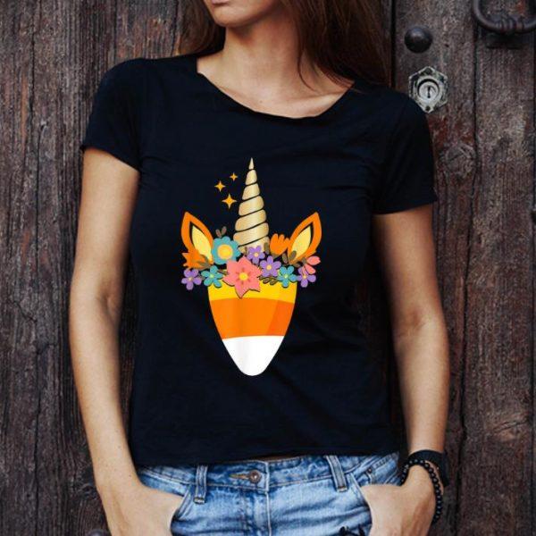 Premium Unicorn Candy Corn Halloween Trick Or Treat Party Gift shirt