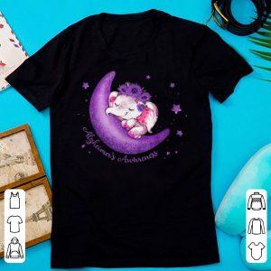 Pretty Alzheimer's Awareness Cute Elephant On The Moon shirt