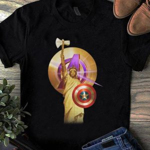 Pretty Captain America Marvel Avenger Statue Of Liberty shirt