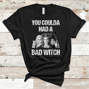 Pretty Hocus Pocus Halloween You Coulda Had A Bad Witch shirt