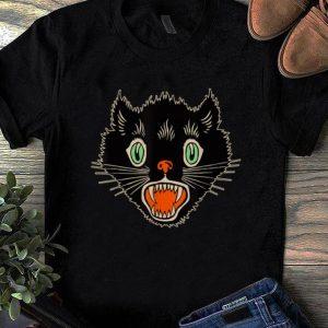 Pretty Vintage Halloween Scary Black Cat Horror shirts
