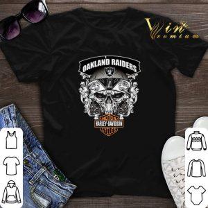 Skull Oakland Raiders Harley-Davidson shirt sweater
