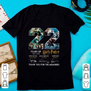 Top 22 Years Of Harry Potter 1997-2019 Thank You For The Memories shirt