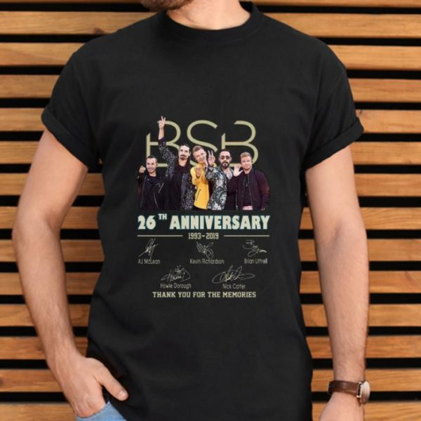 Top 26 Years Of Backstreet Boys 1993-2019 Signature shirt