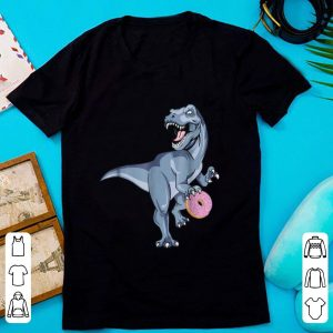 Top Dinosaur Donut Dino Doughnut Halloween Kids Trex Gift shirt