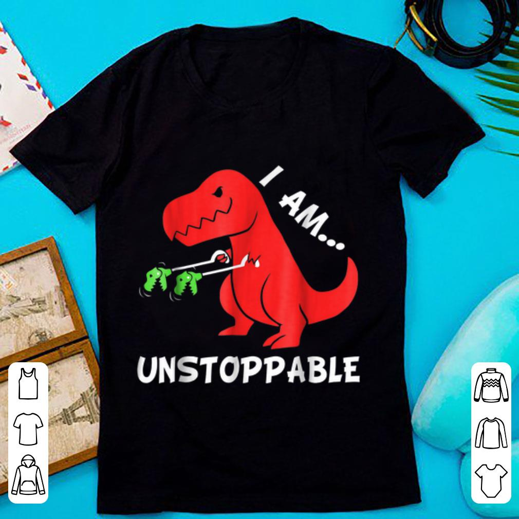 Top I Am Unstoppable Funny T rex Dinosaur Xmas shirt 1 - Top I Am Unstoppable - Funny T-rex Dinosaur Xmas shirt