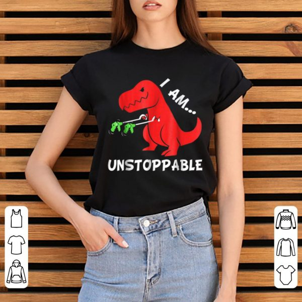 Top I Am Unstoppable - Funny T-rex Dinosaur Xmas shirt
