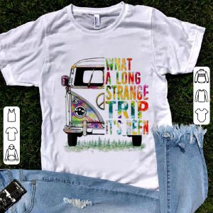 Top What A Long Strange Trip It's Been Hippie Bus shirt