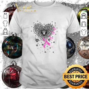 Awesome Hearts Oakland Raiders Breast cancer awareness shirt
