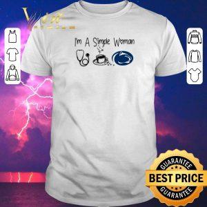 Awesome I'm a simple woman I like Nurse Coffee and Penn State shirt sweater