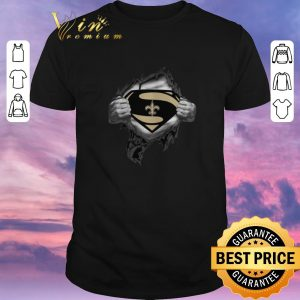 Awesome Superman logo New Orleans Saints inside me shirt