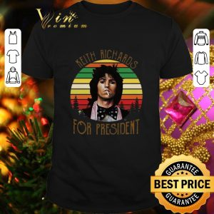 Cool Keith Richards for President vintage sunset shirt