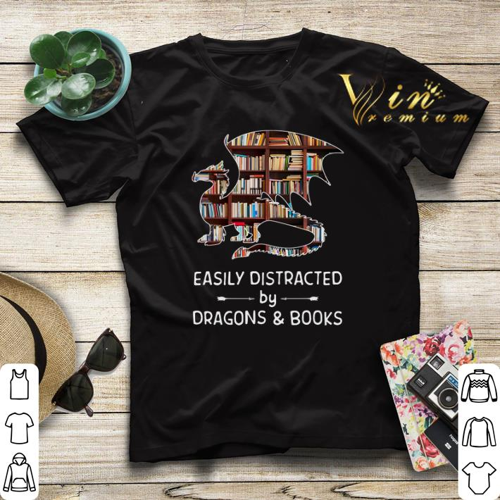 Easily distracted by dragons and books shirt sweater 4 - Easily distracted by dragons and books shirt sweater