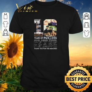 Funny Thank you for the memories 16 years of NCIS 2003-2019 16 seasons shirt