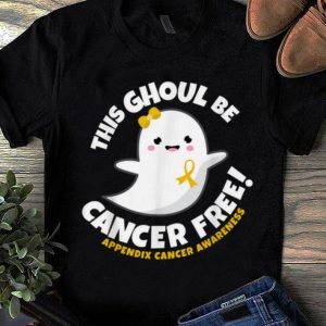 Hot Appendix Cancer Free Survivor Halloween Cute Ghost Girl Gift shirt