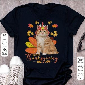 Hot Cat Happy Thanksgiving Funny Cat Lover Thanksgiving Day shirt