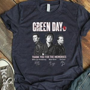 Hot Green Day Signatures Thank You For The Memories shirt