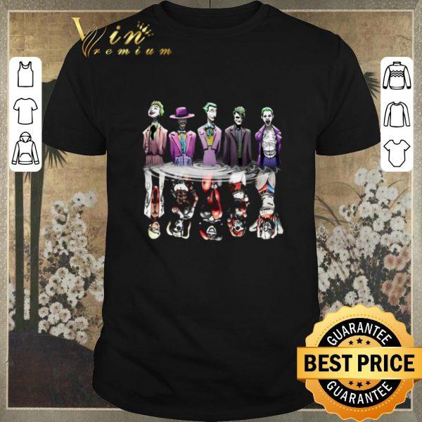 Hot Joker reflection mirror water Harley Quinn shirt sweater