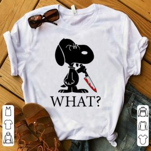 Hot Snoopy What Blood Knife Horror Halloween shirt