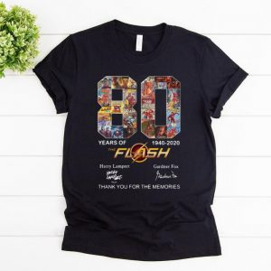 Hot The Flash 80 Years 1940-2020 Thank You For The Memories shirt