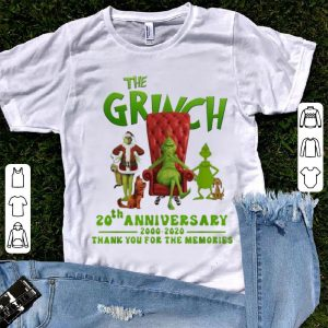 Hot The Grinch 20th Anniversary 2000-2020 Christmas Grinch shirt