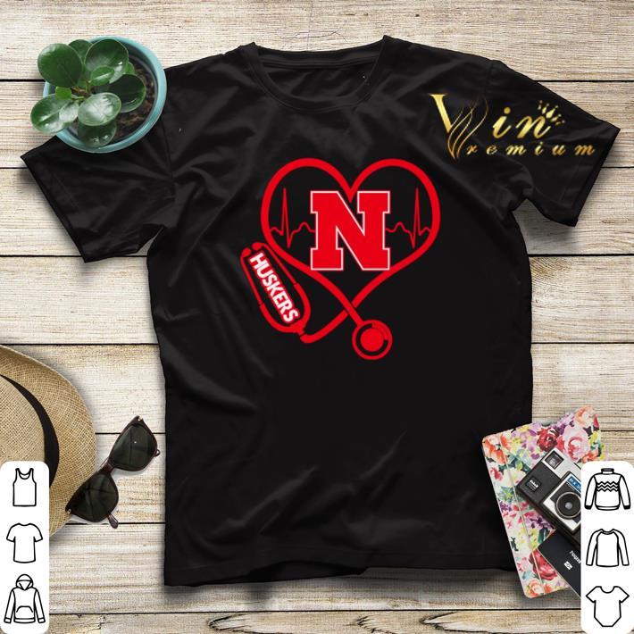 Love Nebraska Cornhuskers Stethoscope Heartbeat nurse shirt sweater 4 1 - Love Nebraska Cornhuskers Stethoscope Heartbeat nurse shirt sweater