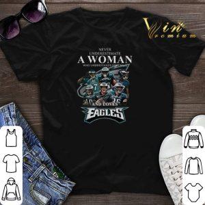 Never underestimate a woman football loves Philadelphia Eagles shirt sweater