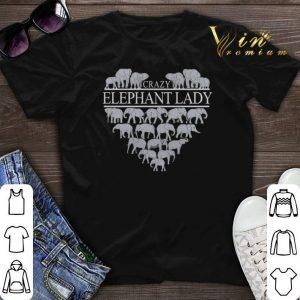Nice Crazy Elephant Lady Heart shirt sweater
