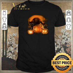Nice Halloween Black cat pumpkins shirt