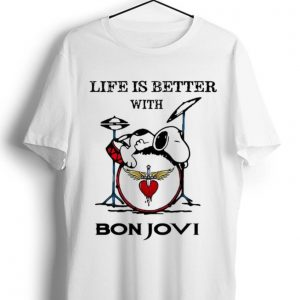 Nice Life Is Better With Bon Jovi Snoopy Rock Band shirt