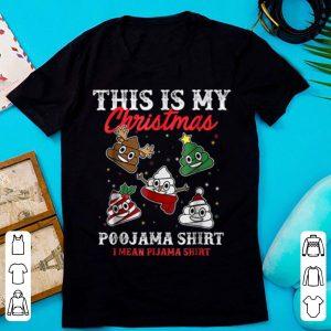 Nice This Is My Christmas Pajama Funny Poop Emoji Gift shirt