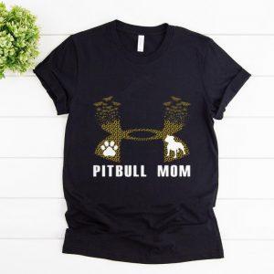 Nice Under Armour Pitbull Mom Flower shirt