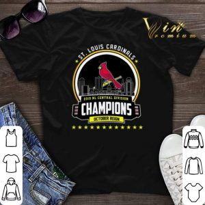 October St. Louis Cardinals 2019 NL Central Division Champions shirt