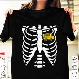 Official Bus Driver Halloween Costume Skeleton Bone Rib Dad Tee shirt
