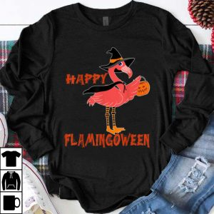 Official Flamingoween Flamingo Mummy Halloween Costume pumpkin shirt