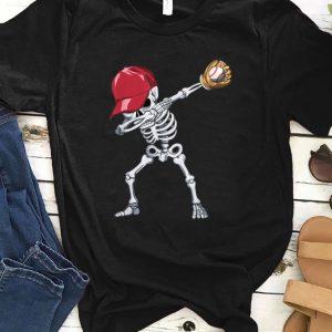 Official Halloween Boys Mens Baseball Apparel, Kids Dabbing Skeleton shirt